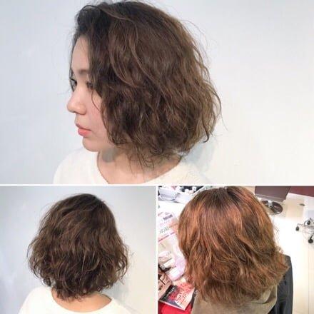 パーマヘアの髪を伸ばし中