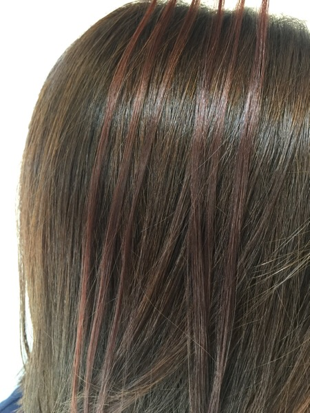 カラーチャート細い毛束
