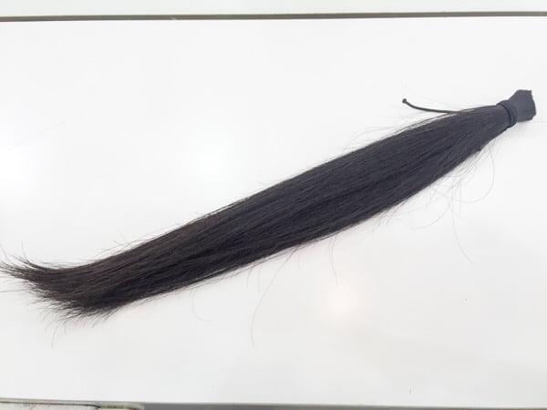 ヘアドネーション後の毛束