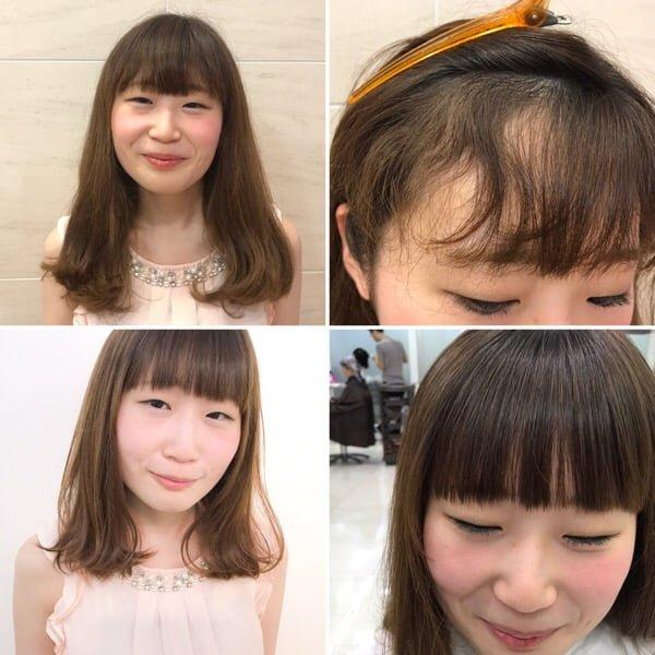 前髪ストレートパーマ完成