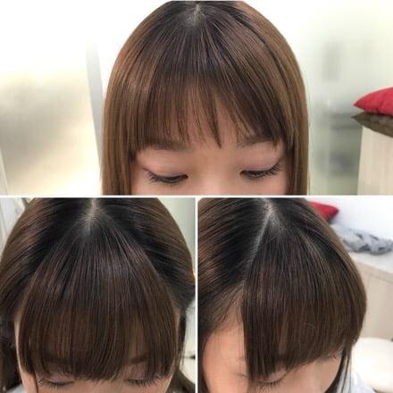 完成前髪カット