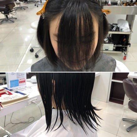 前髪切る前
