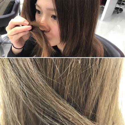 髪の匂いを確認