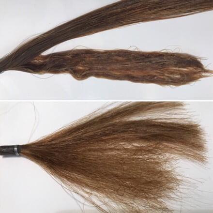 ストレートパーマで髪がチリチリ
