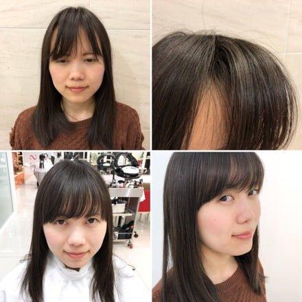 【 悲報 】結んだ時に生え際が… !前髪のデザインカットでおデコをカバーだ!