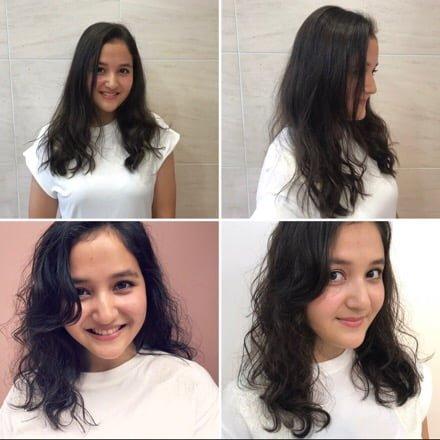 本日のお客様/実録・カット編【 クセを生かしたスタイリング方法と前髪の作り方 】ミディアム・セミロングスタイル