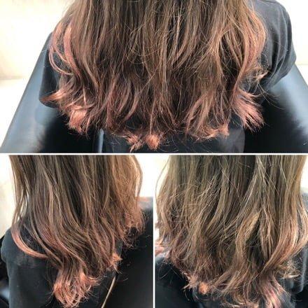 レプロナイザー4D Plusを使用した後の髪の毛のおさまり