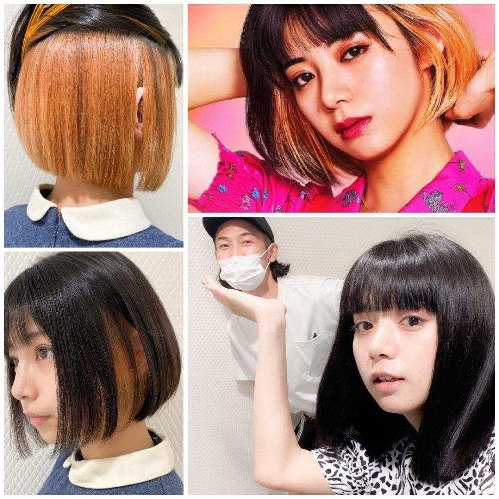 池田エライザヘアカラー・髪色にしたい方「インナーカラー」「イヤリングカラー」「裾・毛先カラー」