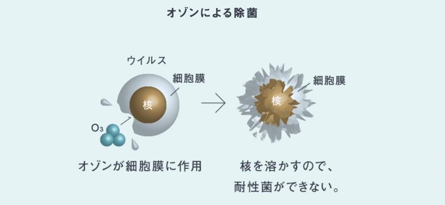 オゾンによる除菌